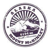 Mount McKinley, Alaska stamp — Vector de stock