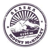 麦金利山,阿拉斯加邮票 — 图库矢量图片