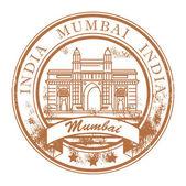 Mumbai, India stamp — Stock Vector