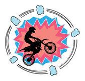 Motocross-hintergrund — Stockvektor