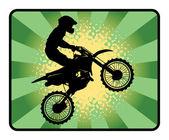 Fondo de motocross — Vector de stock