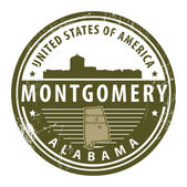 Alabama, Montgomery stamp — Stock Vector