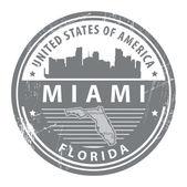Florida, Miami stamp — Stock Vector