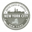 New York, New York City stamp — Stock Vector #15599557