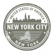 New York, New York City stamp — Stock Vector