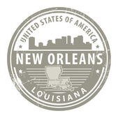Louisiana, New Orleans stamp — Stock Vector