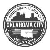 Oklahoma stamp — Stock Vector