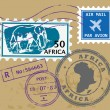 Africpost stamps — Stock Vector #15641993