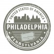 Pennsylvania, Philadelphistamp — Stock Vector #15642085