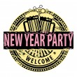 New Year Party stamp — Stock Vector