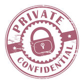 Private, Confidential stamp — Stock Vector