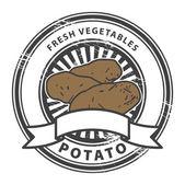 Potato, Fresh Vegetables stamp — Stock Vector