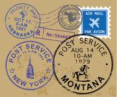 Símbolos de sello de correos — Vector de stock