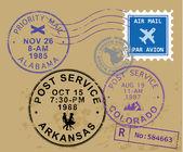 Post stamp symbols — Stock Vector