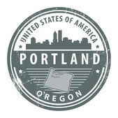 Oregon, Portland stamp — Stock Vector