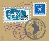 Afrika posta pulları — Stok Vektör