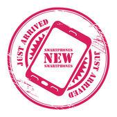 New Smartphones stamp — Stock Vector