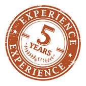 5 Years Experience stamp — Vecteur
