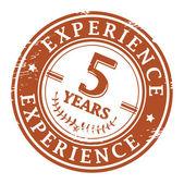 5 ans d'expérience timbre — Vecteur