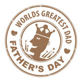 Father's Day stamp — Stock Vector