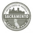 California, Sacramento stamp — Stock Vector