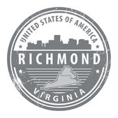 Virginia, Richmond stamp — Stock Vector