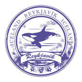 Рейкьявик, Исландия штамп — Cтоковый вектор