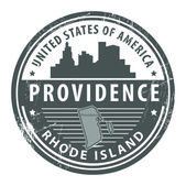 Rhode Island, Providence stamp — Stock Vector