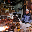 Market in a city Fes in Morocco - Stock Photo