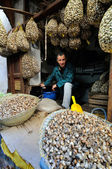 Market in a city Fes in Morocco — Stock Photo