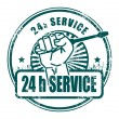 24 hour service stamp - Stock Vector