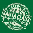 Santa Claus - Christmas Mail stamp — Stockvectorbeeld