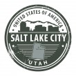 Utah, Salt Lake City stamp - Vettoriali Stock