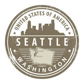 Washington, Seattle stamp — Stock Vector