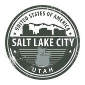 Utah, Salt Lake City stamp — Stock Vector