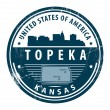 Kansas, Topeka stamp — Stock Vector