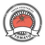 Tomato, Fresh Vegetables stamp — Stock Vector