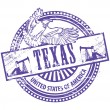 Stock Vector: Texas stamp