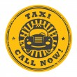 Call Now taxi stamp — Stock Vector #16179731