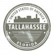 Florida, Tallahassee stamp - Stock Vector