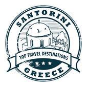 Santorini, Greece stamp — Stock Vector