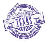 Texas stamp — Stock Vector