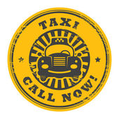 Call Now taxi stamp — Stock Vector