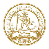 Tallinn, Estonia stamp — Stock Vector