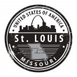 Stock Vector: Missouri, St. Louis stamp