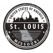 Vettoriale Stock : Missouri, St. Louis stamp