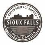 South Dakota, Sioux Falls — Stock Vector