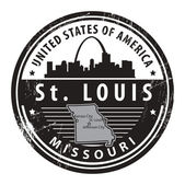Missouri, St. Louis stamp — Vettoriale Stock