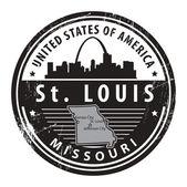 密苏里州圣路易斯邮票 — 图库矢量图片