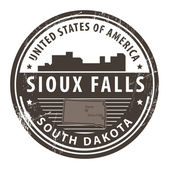 South Dakota, Sioux Falls — Stock Vector